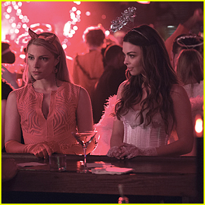 Stefan & Caroline Take Mary Louise & Nora To the Heaven & Hell Ball on 'Vampire Diaries'