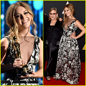 Scream Queens' Billie Lourd Honors Her Grandma at Governors Awards 2015