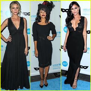 Brittany Snow & Bianca Santos Choose Black Attire For Unicef's Black & White Masquerade Ball