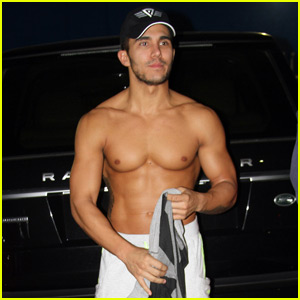 Carlos PenaVega Shows Off Insane Shirtless Body at 'DWTS' Studio