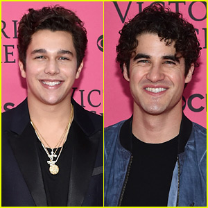 Austin Mahone & Darren Criss Check out the Victoria's Secret Fashion Show!