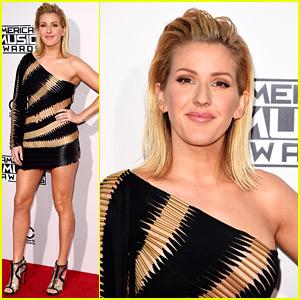 Ellie Goulding Rocks Short, One-Shoulder Dress at AMAs 2015