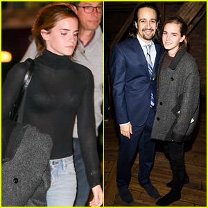 Emma Watson Caught a Showing of Broadway's Hottest Show!