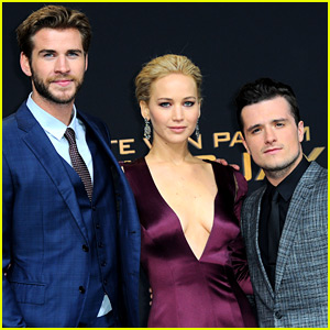 Jennifer Lawrence, Liam Hemsworth, & Josh Hutcherson Are Picture Perfect at 'Hunger Games' Berlin Premiere!