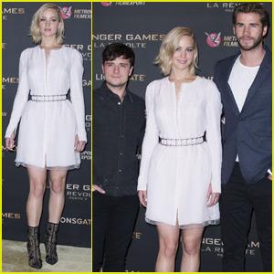 Jennifer Lawrence Hits Paris for 'Mockingjay Part 2' With Liam Hemsworth & Josh Hutcherson