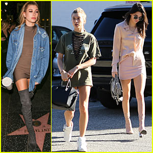 Kendall Jenner Gets In Some Shopping with Birthday Girl Hailey Baldwin