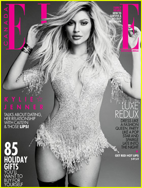 Kylie Jenner Talks Plastic Surgery, Caitlyn Jenner, & More for 'Elle Canada' December 2015