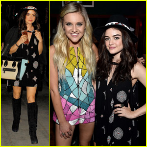 Lucy Hale Checks Out Kelsea Ballerini in Concert!