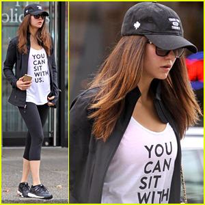 Nina Dobrev Hits The Yoga Studio Before 'Crash Pad' Filming