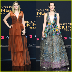 Willow Shields & Jena Malone Bring Final 'Hunger Games' Premiere To Berlin