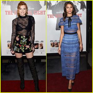 Bella Thorne & Zendaya Reunite at 'The Hateful Eight' Premiere!