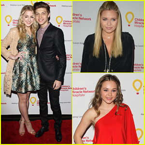 Chloe Lukasiak & Ricky Garcia Couple Up For CMN's Winter Wonderland Ball with Alli Simpson