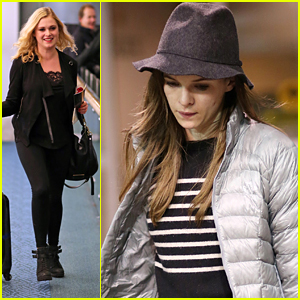CW Actresses Danielle Panabaker & Eliza Taylor Head Home For the Holidays