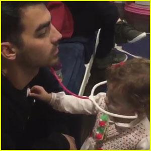 Joe Jonas Shares Cute Christmas Eve Moment with Niece Alena! (Video)