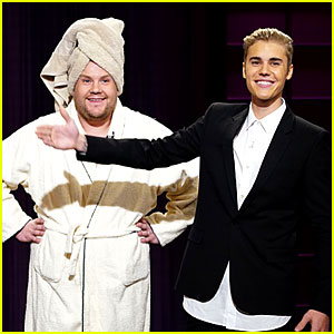 Justin Bieber Takes Over the Monologue for James Corden