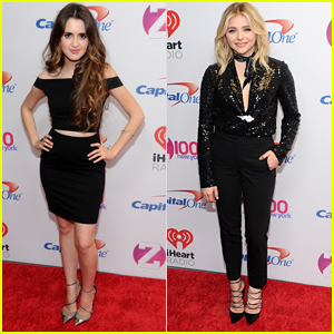 Laura Marano Joins Chloe Moretz At Z100's Jingle Ball in NYC
