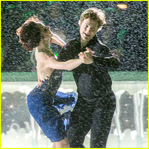 Meryl Davis & Charlie White Ice Dance In The Rain For Bryant Park's Tree Lighting Ceremony