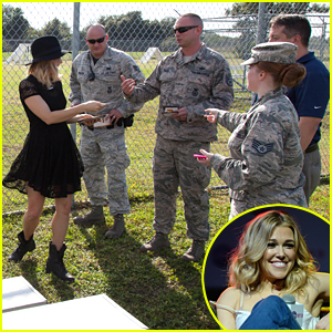 Rachel Platten Gifts Families With Toys & Gift Cards From Cracker Barrel At MacDill Airforce Base