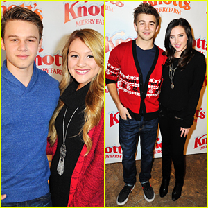 Brooke Sorensen & Ryan Newman Make It A Merry Date Night Out With Boyfriends at Knott's Berry Farm Tree Lighting