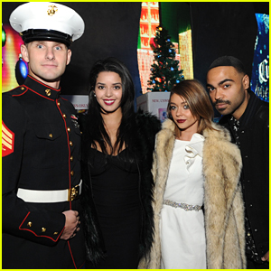 Sarah Hyland Hosts Toys For Tots Winter Wonderland 2015