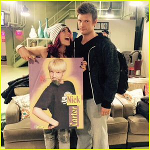 Nick Carter Doesn't Look Amused at Sharna Burgess' Backstreet Boys Poster