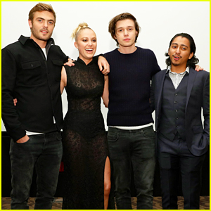 Alex Roe & Nick Robinson Buddy Up 'The 5th Wave' Just Jared Screening!