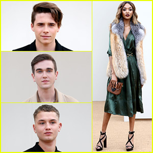 Brooklyn Beckham Sits Front Row at Burberry Show