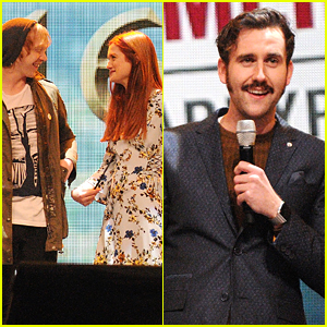 Matthew Lewis Shows Off Mustache At Annual Harry Potter Celebration