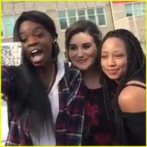 Monique Coleman & Kaycee Stroh Visit East High School On Their Way to Sundance Film Festival