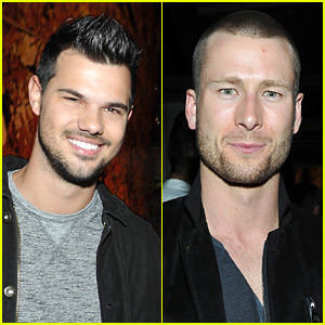 Taylor Lautner & Glen Powell Party with Kelly Klein During Golden Globes Weekend!