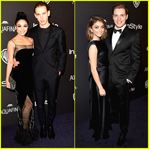 Vanessa Hudgens & Sarah Hyland Make It A Double Date Night at InStyle's Golden Globes Party