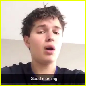 Ansel Elgort Gives Surprise Singing Performance on Snapchat - Watch Now!