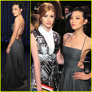 Arden Cho & Katherine McNamara Meet Up For Milly at NYFW