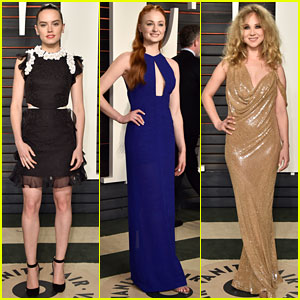 Daisy Ridley Switches Into Second Look at Vanity Fair Oscar Party with Sophie Turner!