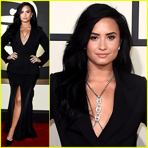 Demi Lovato Gets All Glam for Grammys 2016 Red Carpet!