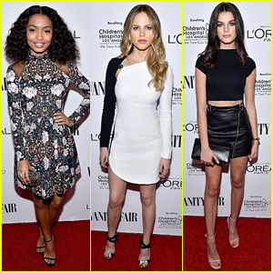 Halston Sage & Yara Shahidi Party It Up at Vanity Fair's DJ Night