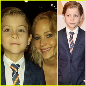 Jacob Tremblay Hangs Out With Jennifer Lawrence at Oscars 2016 Lunch