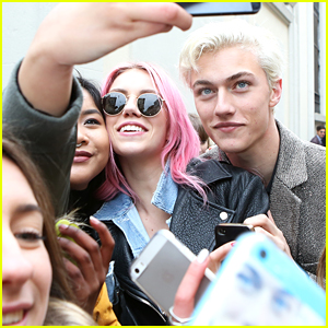 Lucky Blue Smith & Sister Pyper America Hit Milan Fashion Week Together
