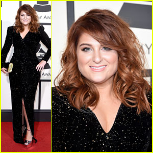 Meghan Trainor Dazzles in Sparkling Gown at 2016 Grammys!