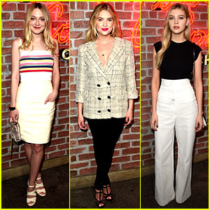 Dakota Fanning & Ashley Benson Attend Chanel Event with Nicola Peltz