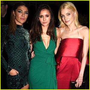 Nina Dobrev & Jessica Szohr Have a Girls' Night Out at Pre-Oscar Party!