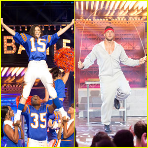 Nina Dobrev & Tim Tebow Get Their Game Faces On For 'Lip Sync Battle' - Watch Now!