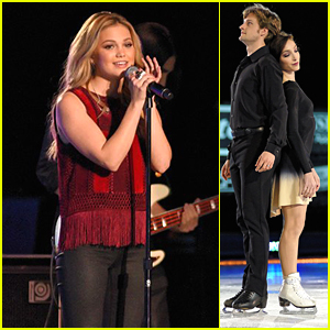 Olivia Holt & MAX Perform In Colgate Skating & Gymnastics Spectacular, Airing This Weekend - Sneak Peek!