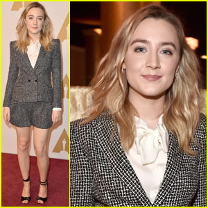 Saoirse Ronan Shows Some Leg at Oscars 2016 Nominee Luncheon