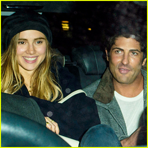 Suki Waterhouse Enjoys Night out with Brandon Davis