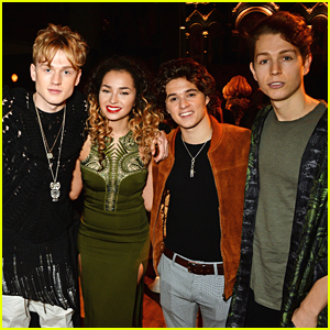 The Vamps Hit London Fashion Week With Ella Eyre & Lewi Morgan