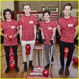 The Vamps Play Human Hungry Hippos At Sport Relief Event in Birmingham