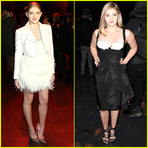 Willow Shields Hit Naeem Khan In A White Feathery Dress