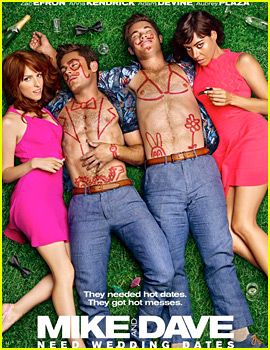 Zac Efron Passes Out Shirtless in 'Mike & Dave Need Wedding Dates' Poster!