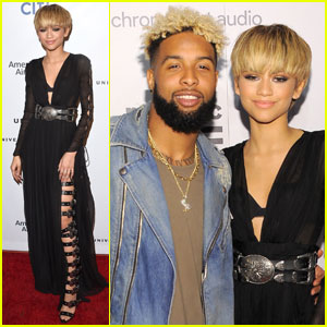 Zendaya Brings NFL Player Odell Beckham Jr. to Grammys 2016 After-Parties!